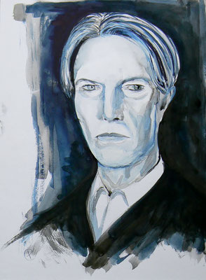 001 David Bowie - watercolour - 30 x 40 cm