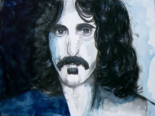 005 Frank Zappa - watercolour - 30 x 40 cm
