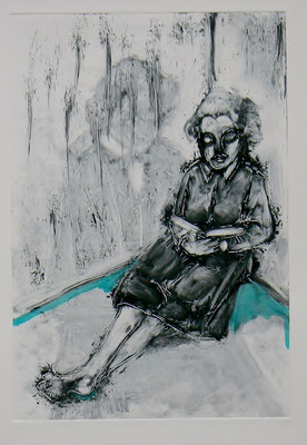 031 Monotype and watercolour - Untitled - 25 x 17 cm