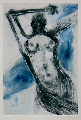 057- Monotype & Watercolour - 24,5 x 17 cm