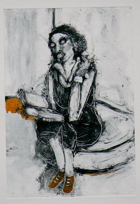 027 Monotype and watercolour - Untitled - 25 x 17 cm