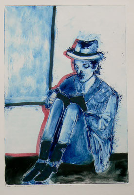 009 Monotype and watercolour - Untitled - 24,5 x 17 cm
