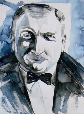 009 Joseph Roth - watercolour - 30 x 40 cm