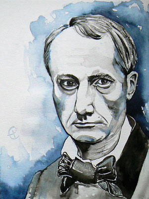 017- Charles Baudelaire - Watercolour - 30 x 40 cm