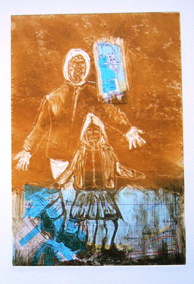 027 - Monotype & Collage - 24,5 x 17 cm