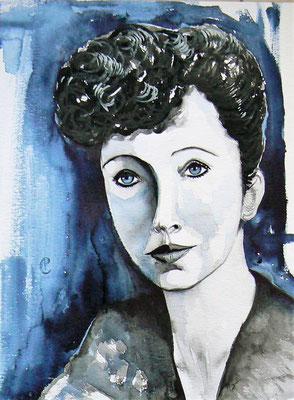 010 - Anaïs Nin - Watercolour - 30 x 40 cm