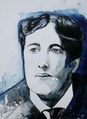 013 Oscar Wilde - watercolour - 30 x 40 cm