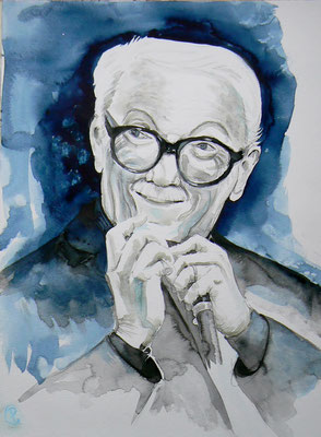 012 Toots Thielemans - watercolour - 30 x 40 cm