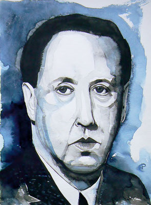 003 Sándor Márai - watercolour - 30 x 40 cm