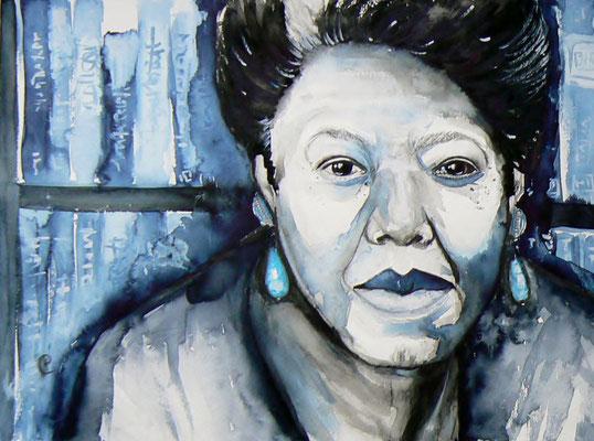018 Maya Angelou - watercolour - 30 x 40 cm