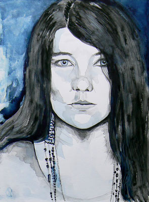 003 Janis Joplin - watercolour - 30 x 40 cm