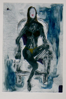 058- Monotype & Watercolour - 24,5 x 17 cm
