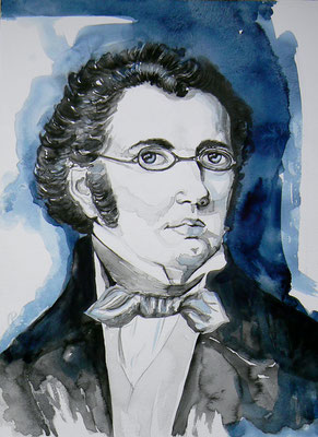 011 Franz Schubert - watercolour - 30 x 40 cm