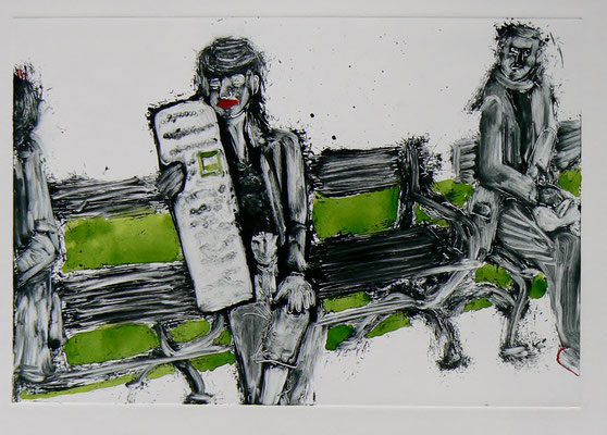 023 Monotype and watercolour - Untitled - 25 x 17 cm