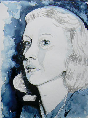 008 Martha Gellhorn - watercolour - 30 x 40 cm