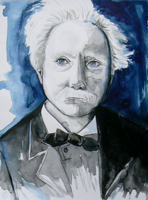 013 Edvard Grieg - watercolour - 30 x 40 cm