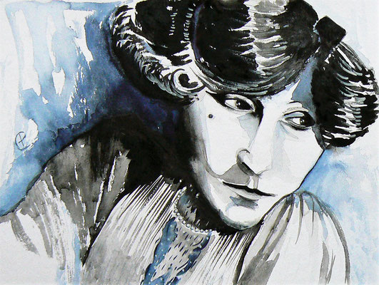 012- Colette - Watercolour - 30 x 40 cm