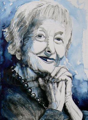 014 Wisława Szymborska - watercolour - 30 x 40 cm