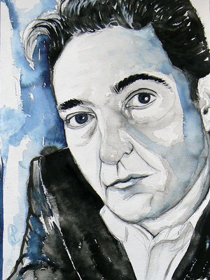 001 - Menno Wigman after a portrait by Bianca Sistermans (biancasistermans.com) - Watercolour - 30 x 40 cm