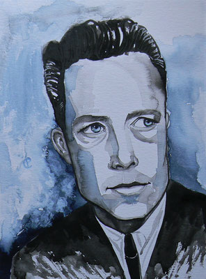 009 - Albert Camus - Watercolour - 30 x 40 cm