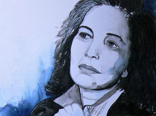 003 - Susan Sontag - Watercolour - 30 x 40 cm