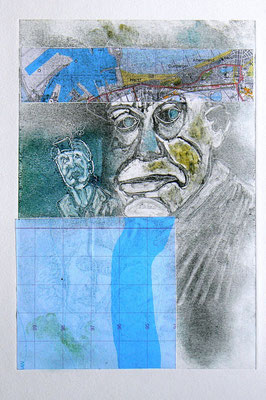 042 - Monotype & Collage - 24,5 x 17 cm