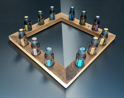 """Nr. 1 Aufsteller 12 Lochbohrungen für 15 ml Flaschen """"Rahmen"""" 31 x 31 cm Fr. 48.00"""