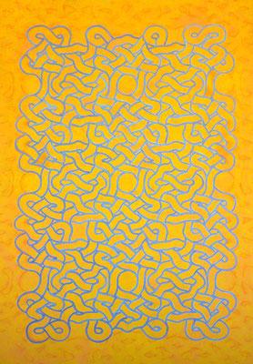 El siete de oro, 2019, acrylique sur toile, 160 x 220 cm