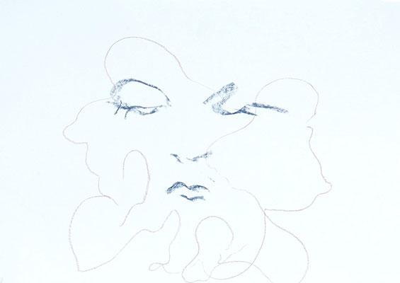 Madame, 2019, craie sur papier, 84 x 60 cm