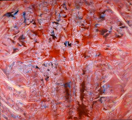 La viande, 1983, acrylique sur toile, 200 x 200 cm