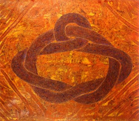 Héphaïstos, 1989, acrylique sur toile, 195 x 162 cm
