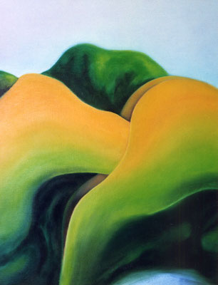 Fucking Hills, 1999, huile sur toile, 110 x 140 cm