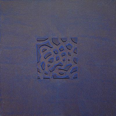 Psychogramme, 2018, acrylique sur toile et carton, 30 x 30 cm