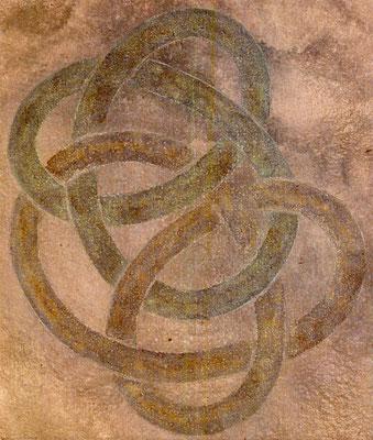 Siamoises, 1988, acrylique sur toile, 33 x 39 cm
