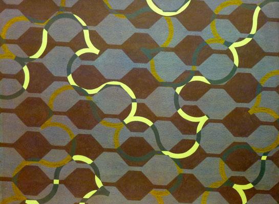 Arabesque 1, 1983, gouache sur papier, 65 x 50 cm
