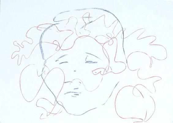 Monsieur, 2019, craie sur papier, 84 x 60 cm