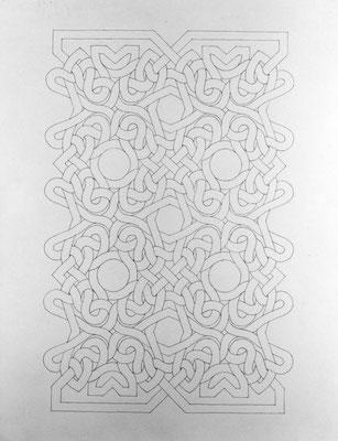 Totem, 1991, encre sur papier, 50 x 65 cm