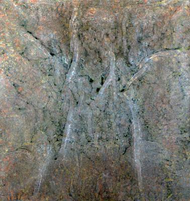 Brocéliande, 1983, acrylique sur toile, 200 x 200 cm