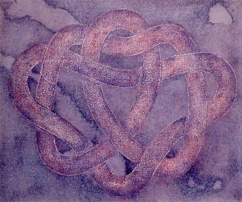 Les ébats d'Ida, 1988, acrylique sur toile,36 x 30 cm