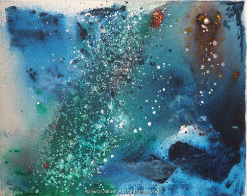 Cosmic Sea C371 50x40cm ©2014 Eva Dillner. Collection Municipality of Eksjö Sweden