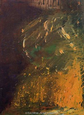 "C302 36x48"" ©2010 Eva Dillner. Painted for TellusArt in Chandigarh, India at Fine Arts Museum"