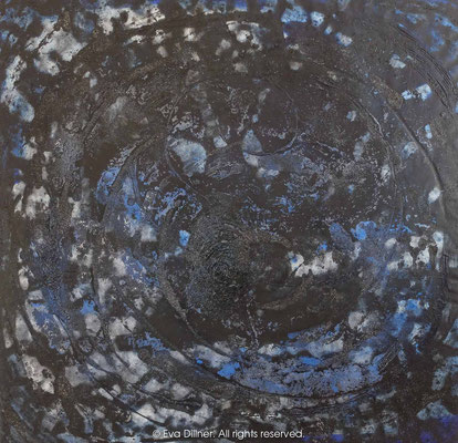Blue Rose D429 130x125cm ©2016 Eva Dillner