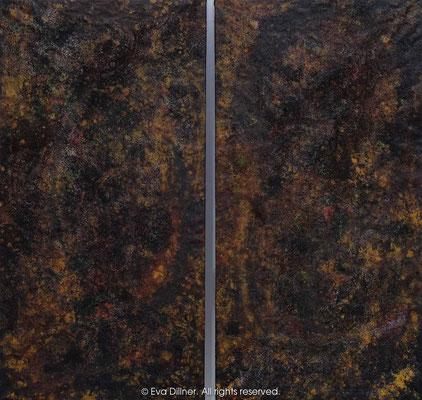 Velvet Earth C396 C397 diptych 2x67x130cm ©2016 Eva Dillner