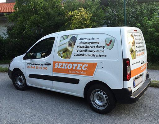 Sekotec auf dem Weg zu Service und Montage