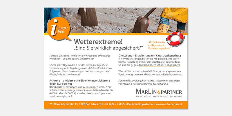 Regionale Anzeige Wetterextreme/Versicherung