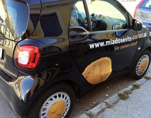 Der witzige Mladosevits-Smart ist schon unterwegs!