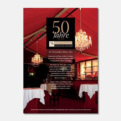 Daotzauer Einladung Palazzo - 50 Jahre Jubiläum