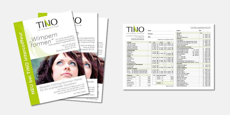 Angebot, Rechnung Tino Intercoiffeur