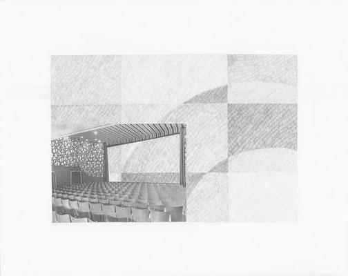 Truth is always strange, stranger than fiction 6/12 (2016) Collage und Bleistift auf Papier, 40x50cm