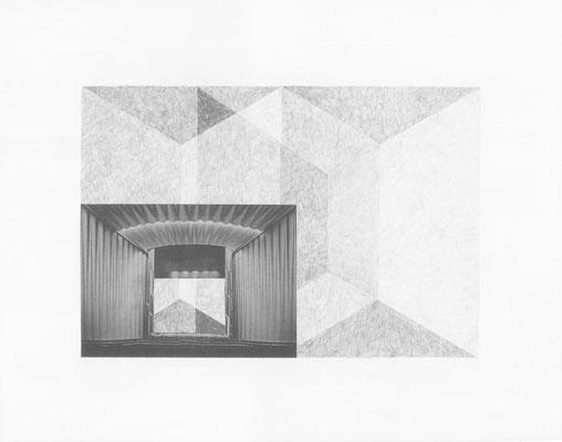 Truth is always strange, stranger than fiction 2/12 (2016) Collage und Bleistift auf Papier, 40x50cm